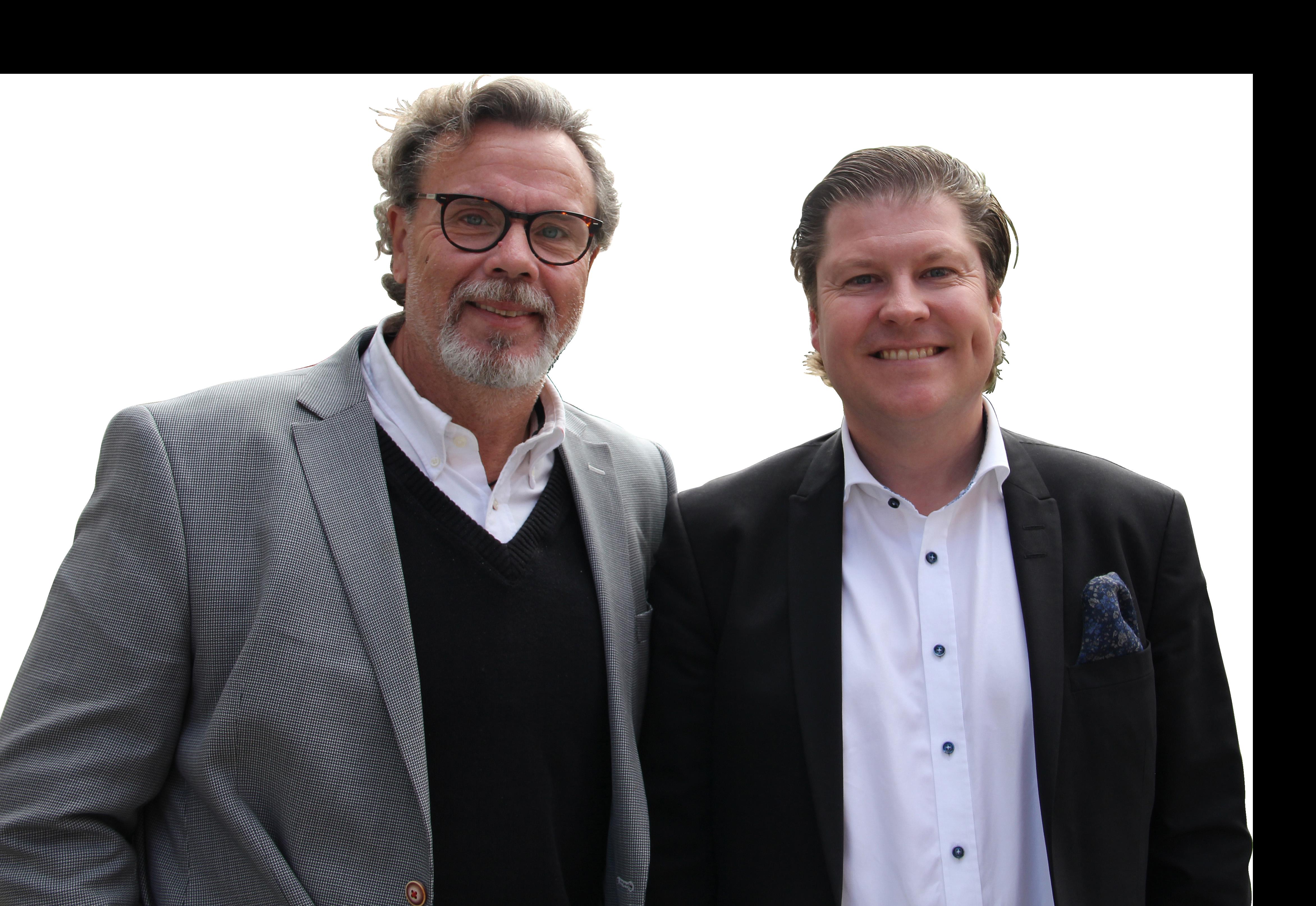 Rickard Ydrenäs och tullexperten Peter Jacobsson, Ecus samtalar om aktuella frågor i Tullpodden